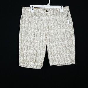 """Flat Front Pineapple Shorts10.5"""""""